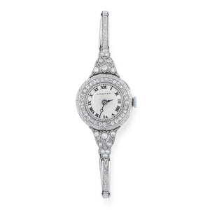 *NEW*Antique Tiffany Diamond Cocktail Watch