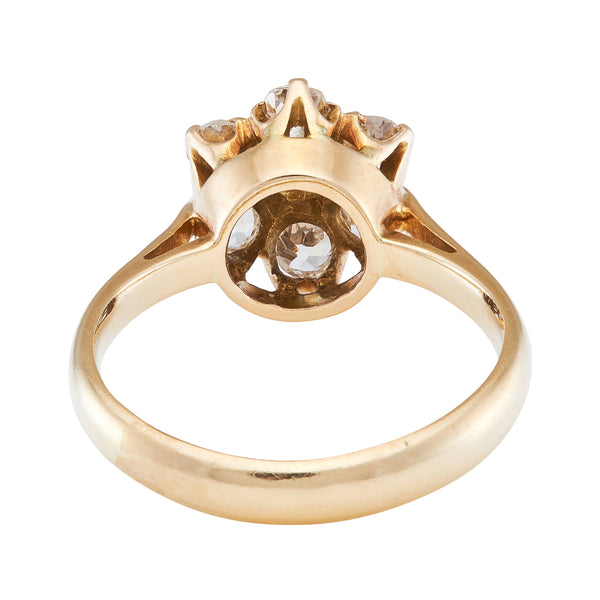 *NEW* Antique Edwardian,Old Cut Diamond, Cluster Ring, 18 Yellow Gold.