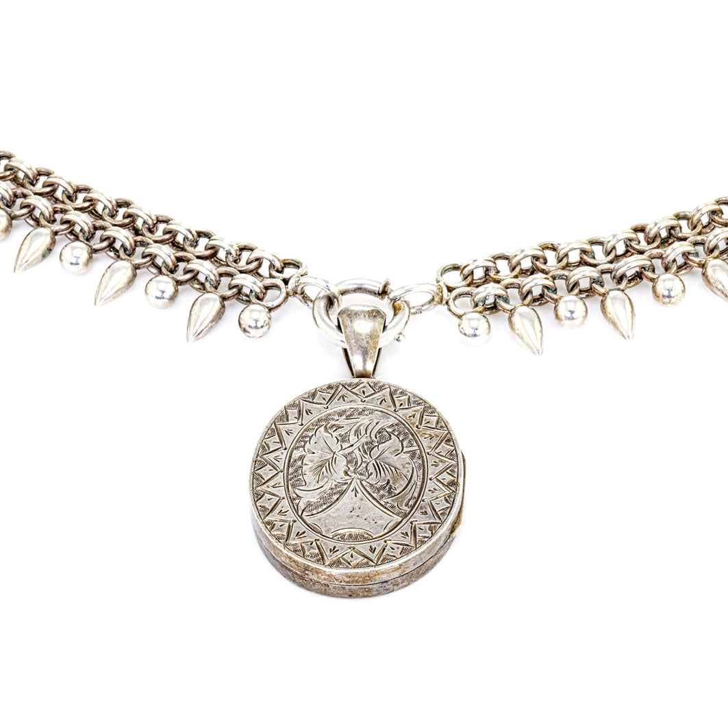 Victorian Silver Collar Necklace