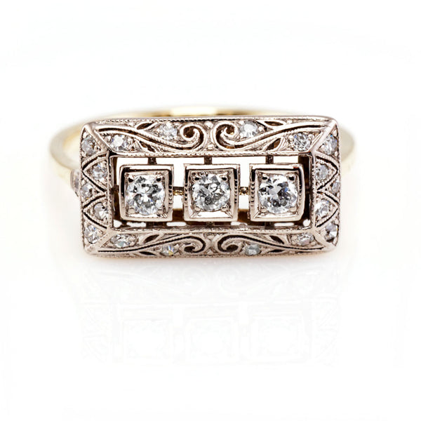 Deco Rectangular Ring