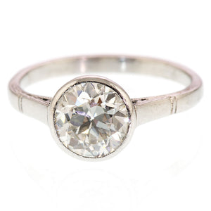 Art Deco Diamond Solitiare Engagement Ring 1.65carat