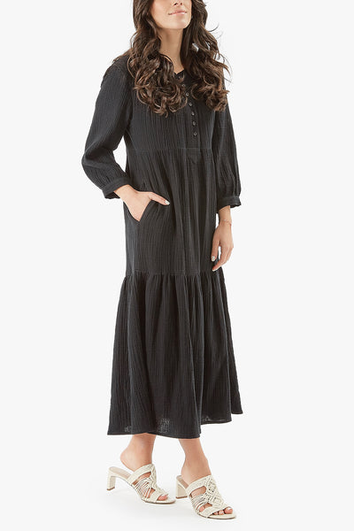 MALI DRESS- MIDI LENGTH (Black)