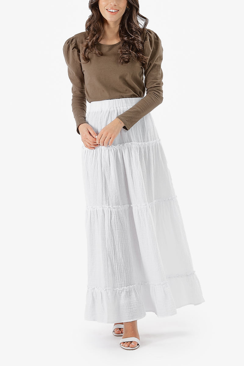 NAHLA SKIRT (White)- FINAL SALE