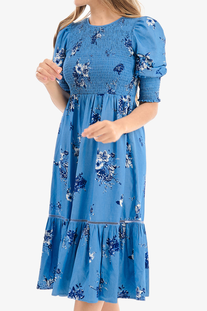 FANY DRESS (Blue/Floral)