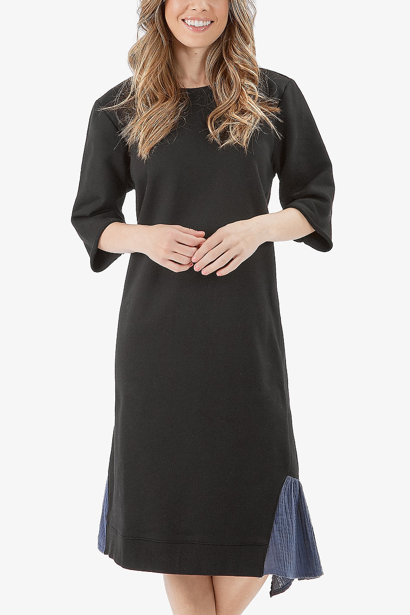 JACKLYN DRESS (Black/Dark grey)