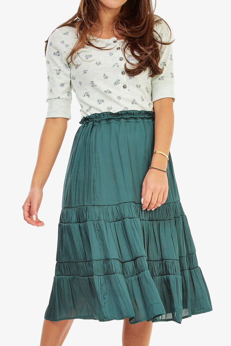 ADELE SKIRT (Emerald)