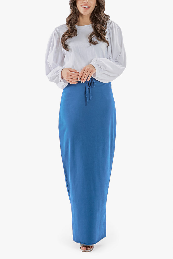 SUPREME MAXI SKIRT (Navy)