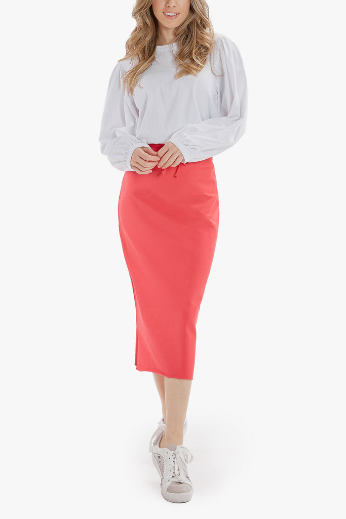 SUPREME MIDI SKIRT (Cranberry)