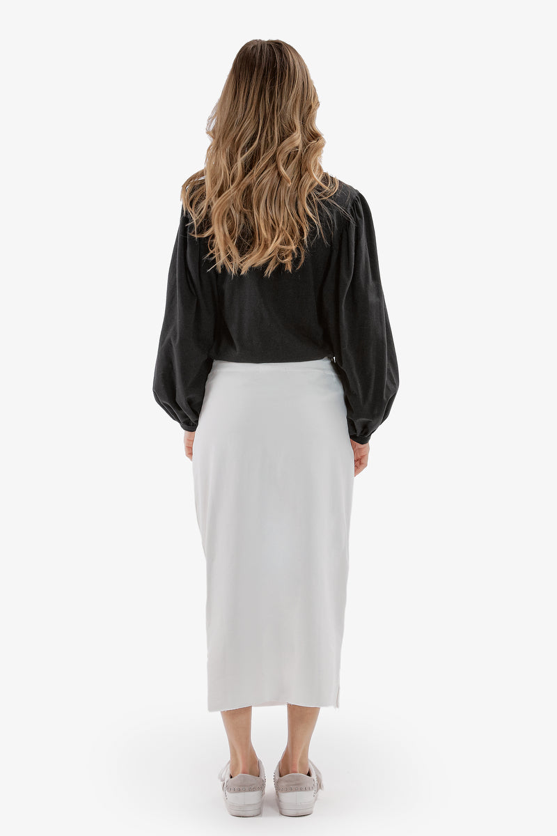 SUPREME MIDI SKIRT (White)