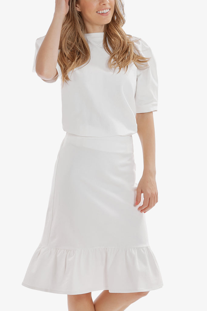 SUPREME RUFFLE SKIRT (White)