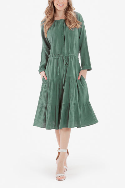 ELLE DRESS (Sage Green)