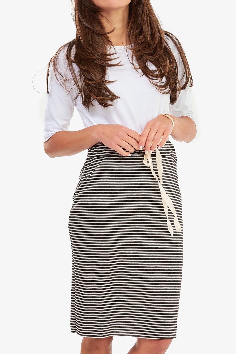 SUPREME SKIRT (Black Stripe)- FINAL SALE
