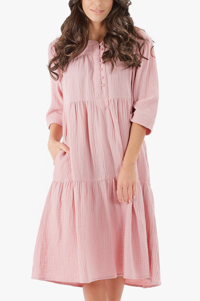 MALI DRESS (Dusty Pink)