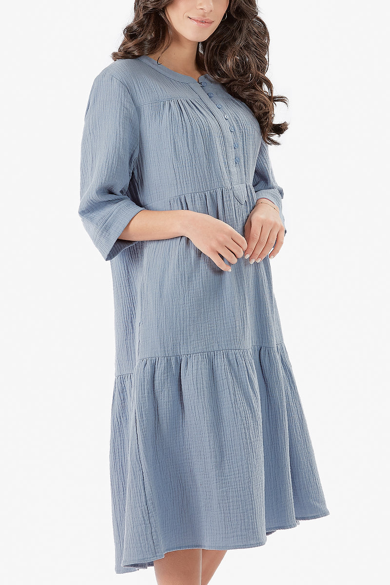 MALI DRESS (Dusty Blue)