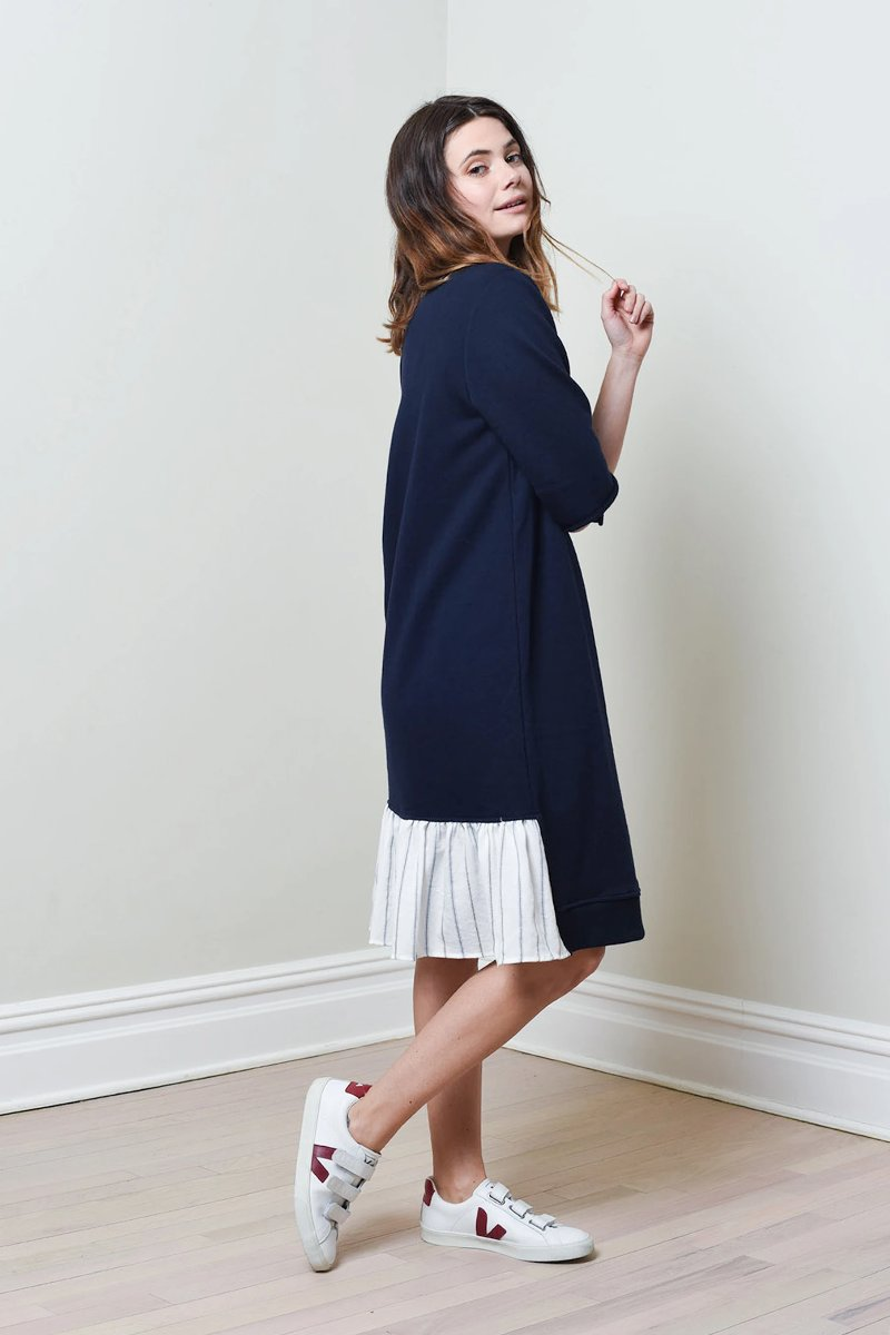 JACKLYN DRESS (Navy/White)