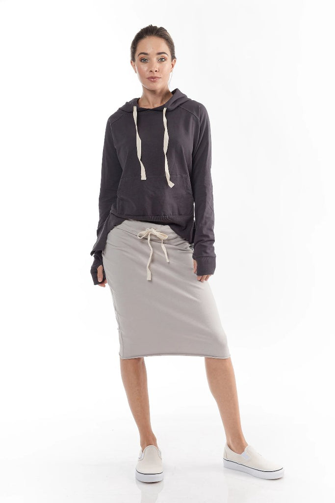 FALL SUPREME SKIRT (Stone Grey)