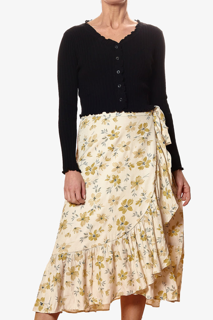 EMERSON SKIRT (White/Yellow)