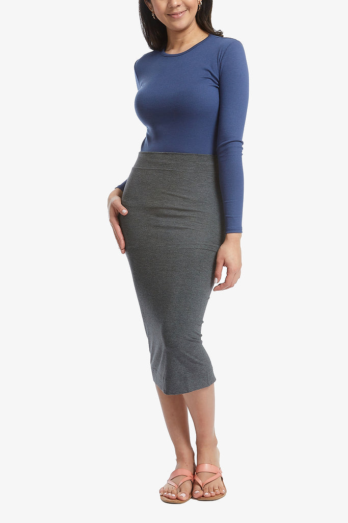 HEIDI SKIRT (Heather Charcoal)