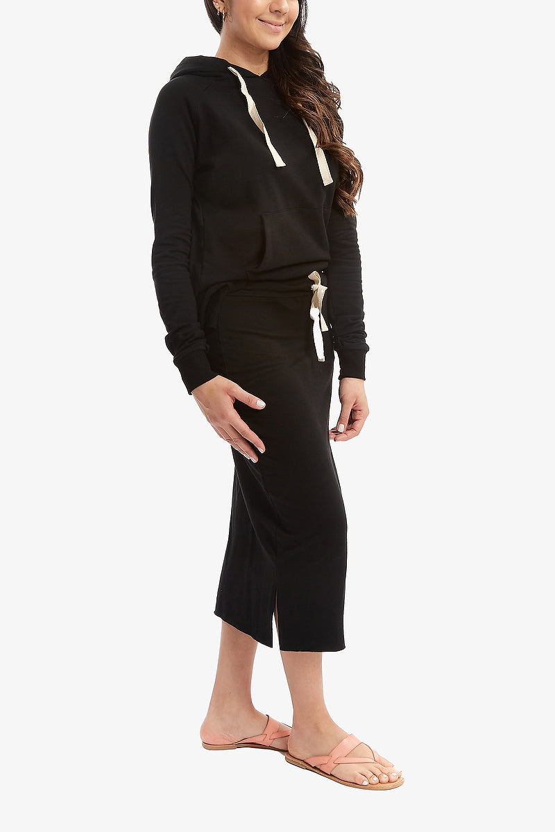 FALL SUPREME MIDI SKIRT (Black)