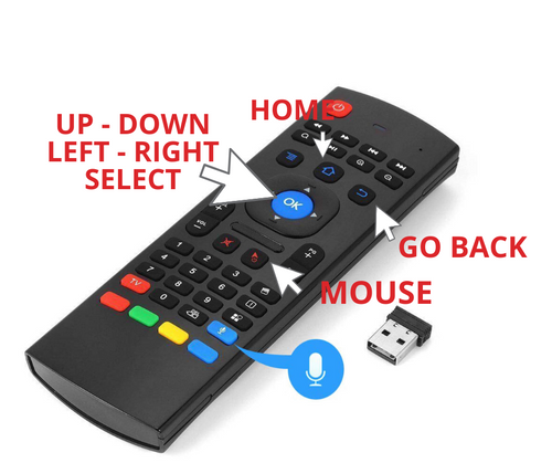 Mini Keyboard and Air Mouse Remote - Works on Binge Box TV 2019 and 2020 Units - Marvin's Favorite