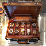 Watch Collector Case - Scripto Light Brown for 10 Watches