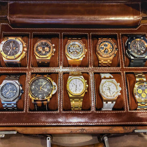 Watch Collector Case - Scripto Light Tan for 10 Watches