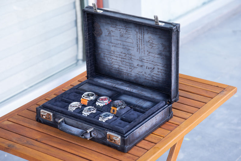 Watch Collector Case - Master Edition Parchment Patina Grey