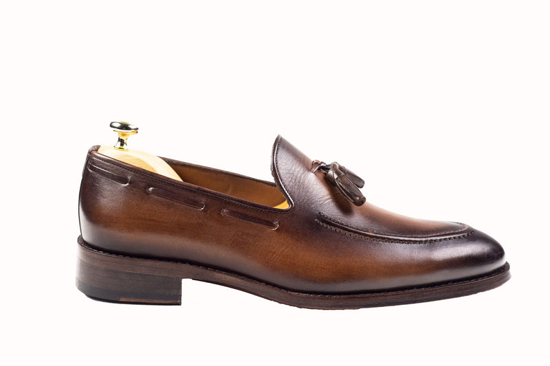 Bosphorus Leather Handmade Shoes - Patina Brown - Bosphorus Leather