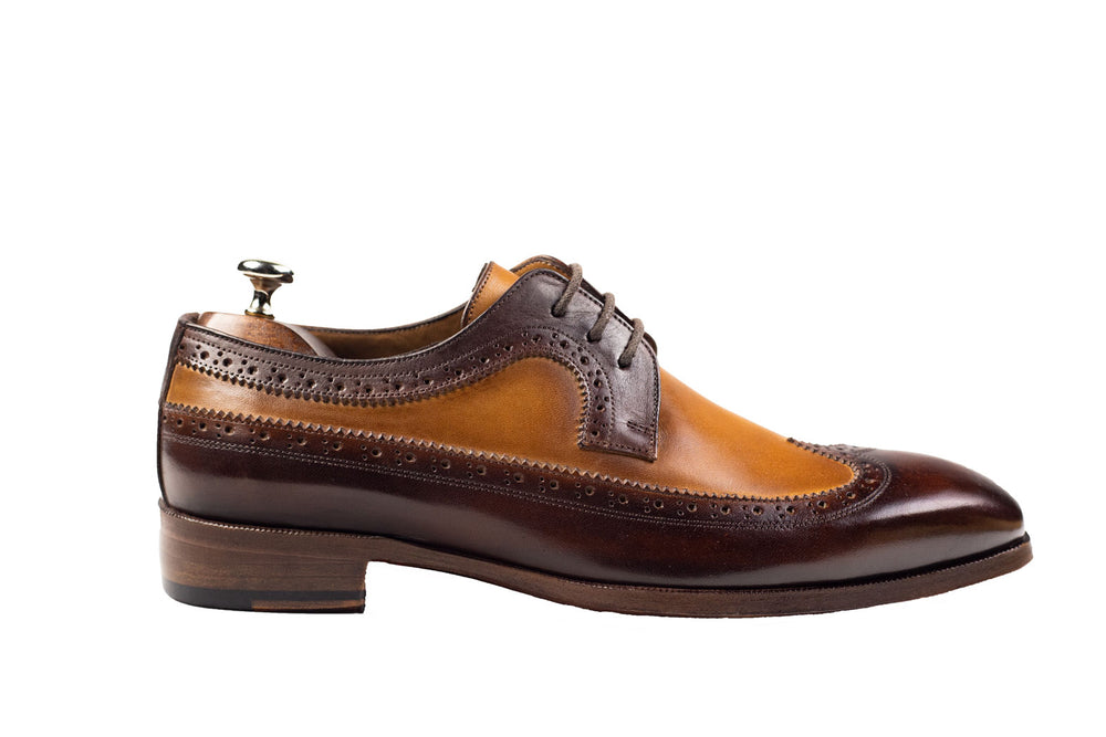 Bosphorus Leather Handmade Shoes - Brown and Caramel