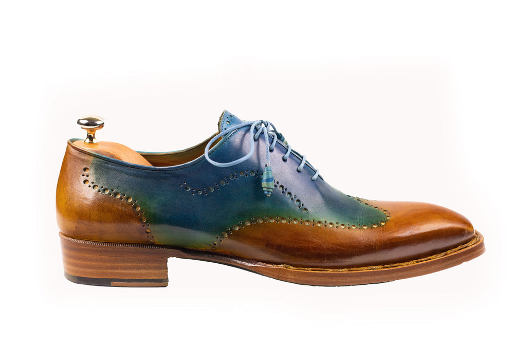 Bosphorus Leather Good Year Welted Shoes - Patina Ocaen Blue and Caramel