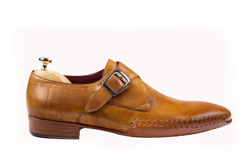 Bosphorus Leather Good Year Welted Shoes - Patina Caramel