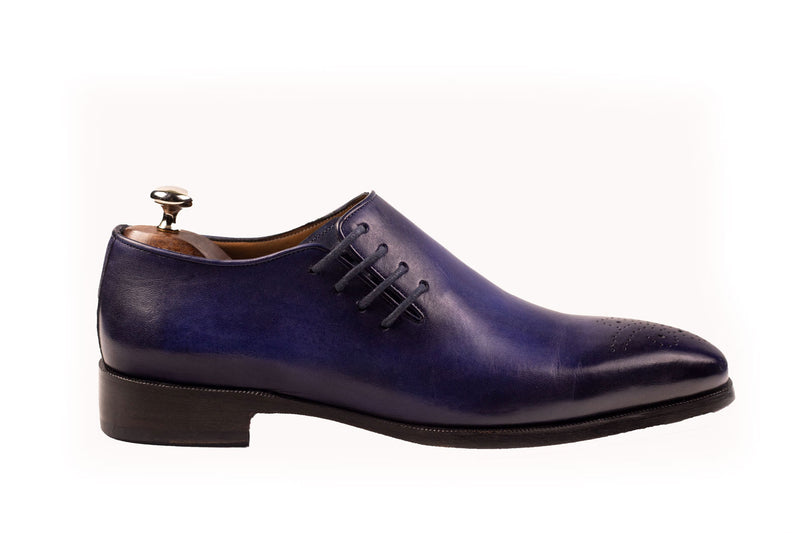 Bosphorus Leather Handmade Shoes - Patina Blue