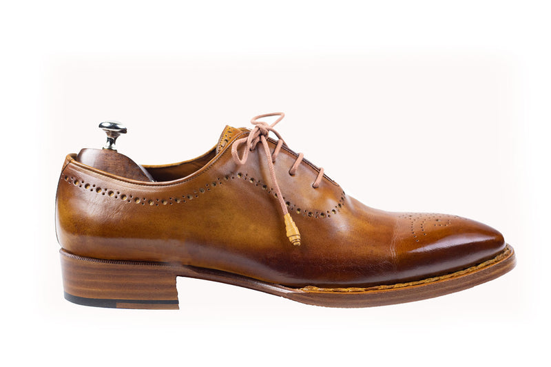 Bosphorus Leather Good Year Welted Shoes - Patina Honey Brown