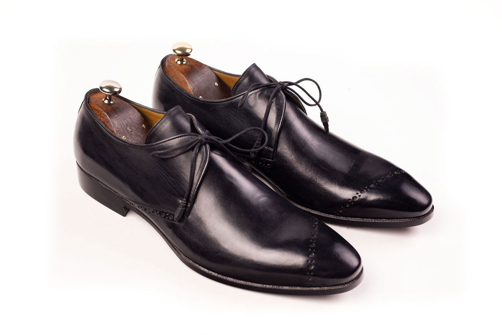 Bosphorus Leather Good Year Welted Shoes - Black