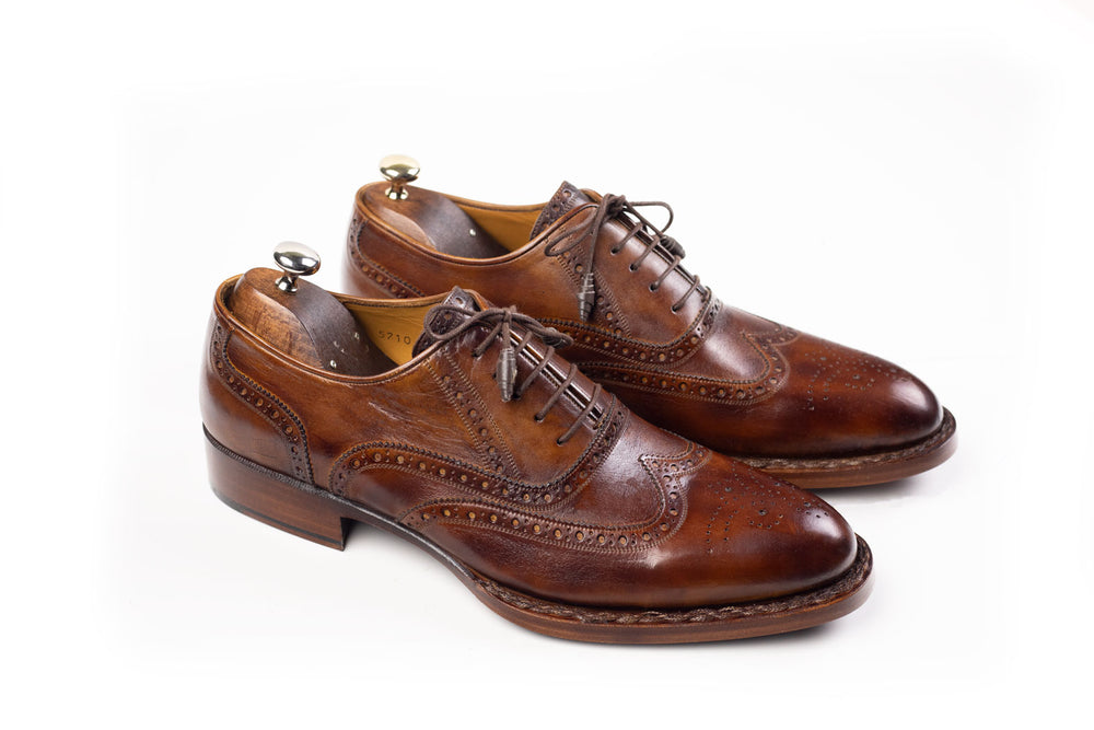 Bosphorus Leather Good Year Welted Shoes - Patina Dark Brown