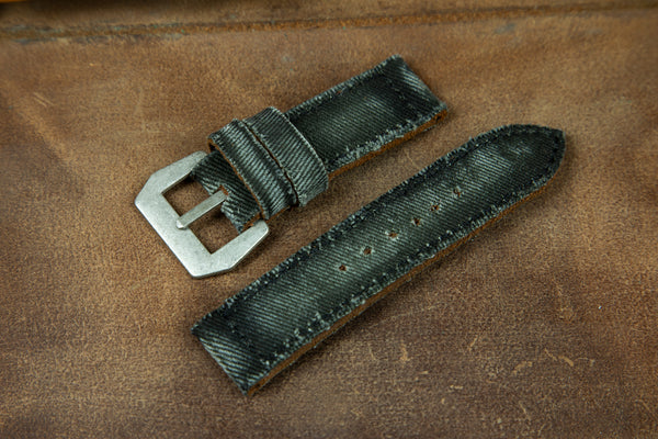 Bosphorus Watch Strap - Canvas Khaki Green