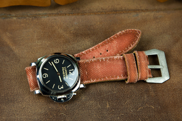 Bosphorus Watch Strap - Canvas Brick Color