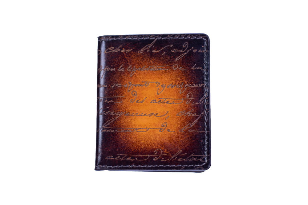 Bosphorus Leather Scripto Patina Light Tan Card Holder