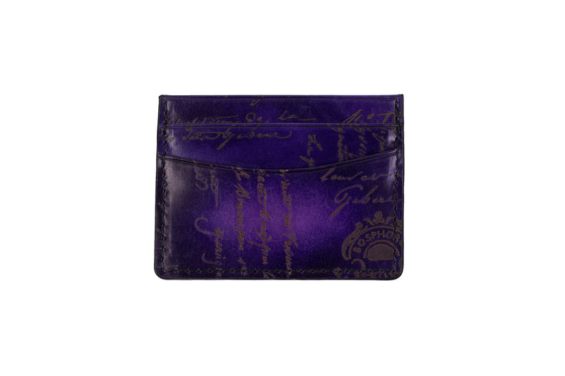 Bosphorus Leather Scripto Patina Purple Card Holder | Bosphorus Leather