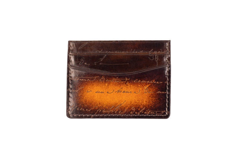 Bosphorus Leather Scripto Patina Light Tan Card Holder - Bosphorus Leather