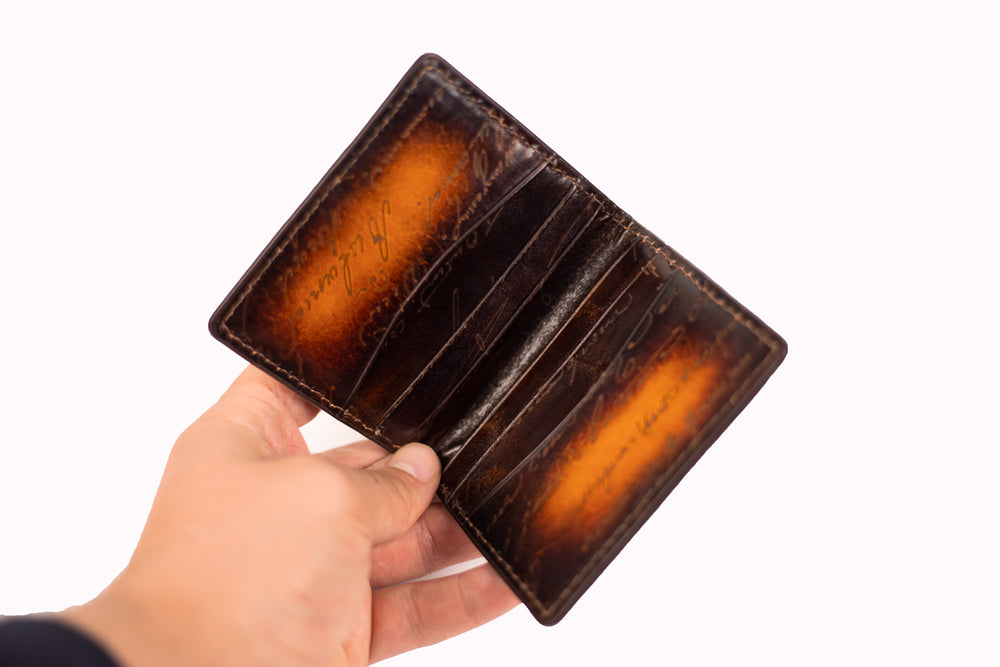 Leather Scripto Patina Light Tan Card Holder
