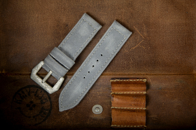 Bosphorus Watch Strap - Rolled Canvas Grey 01