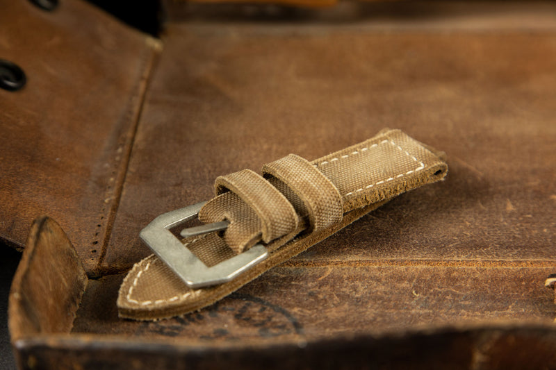 Bosphorus Watch Strap - Canvas Caramel