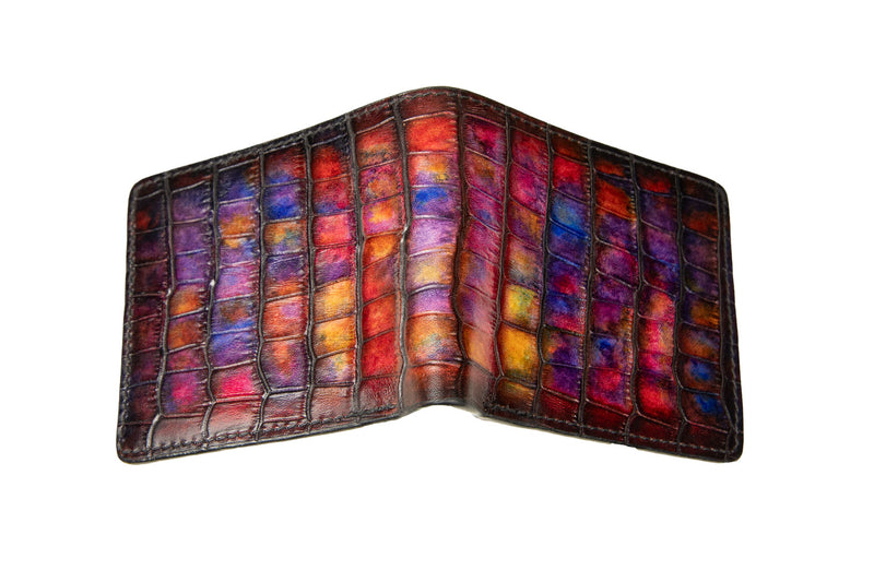 Bosphorus Leather - CP Patina Art Wallet Rosella
