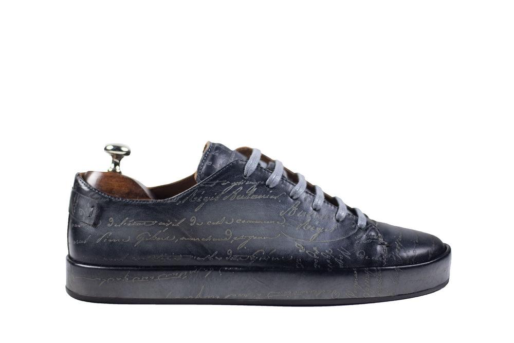 Bosphorus Leather Marrakech Sneaker - Scripto Patina Grey