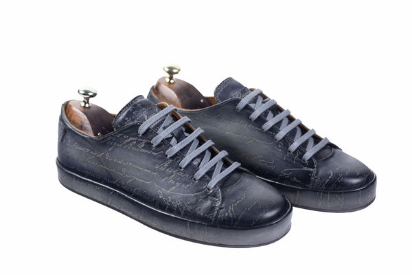 Bosphorus Leather Marrakech Sneakers - Scripto Patina Grey