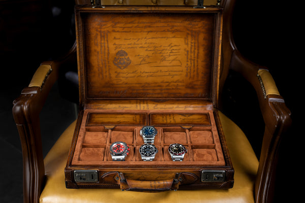 Watch Collector Case - Master Edition Honey Brown
