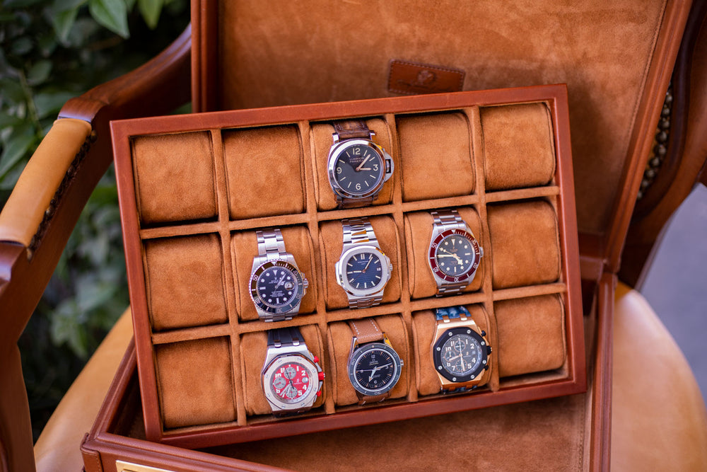 Watch Collector Case Combination Lock - Birmingham Brown for 10 or 15 Watches