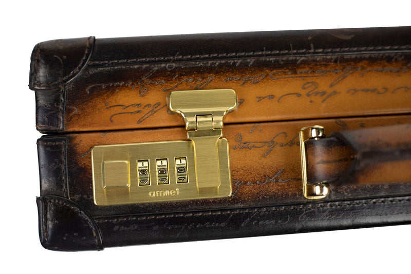 Watch Collector Case Combination Lock - Scripto Patina Light Tan for 10 or 15 Watches - Next Day Shipping !