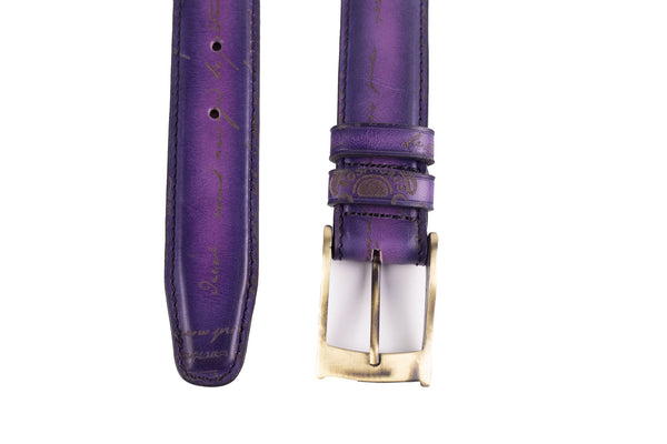 Bosphorus Belt - Patina Purple